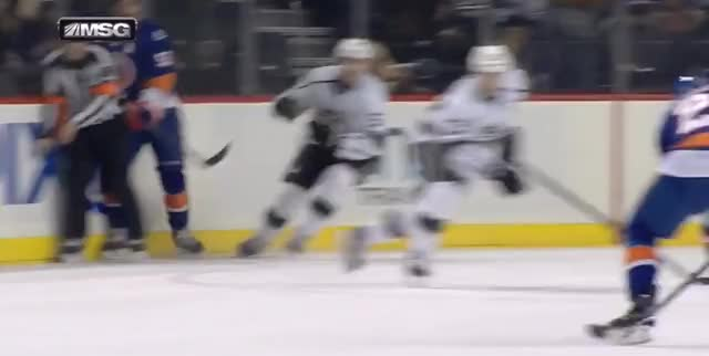 Watch Kopitar/Brown rush GIF by @ericburger on Gfycat. Discover more gifsfromthegame, losangeleskings, newyorkislanders GIFs on Gfycat