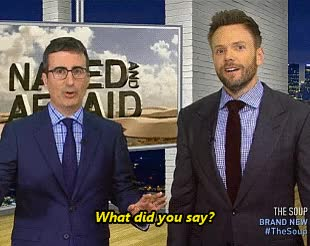 Watch and share Joel Mchale GIFs and John Oliver GIFs on Gfycat