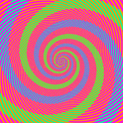 Watch and share Optical Illusion - The 'blue' And 'green' Swirls Are Actually The Same Color GIFs on Gfycat