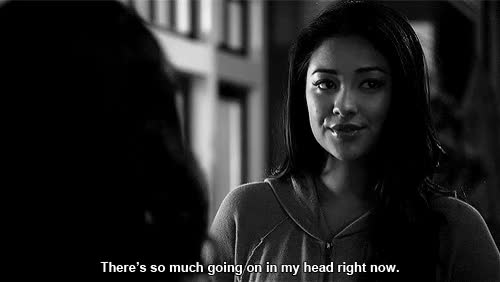 Watch and share Pretty Little Liars Shay Mitchell Emily Confused GIFs on Gfycat