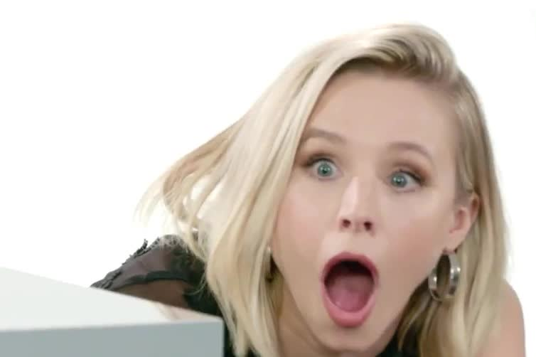bell, fair, god, kristen, kristen bell, my, no, oh, omg, surprise, surprising, vanity, wait, way, what, Kristen Bell | Vanity Fair GIFs