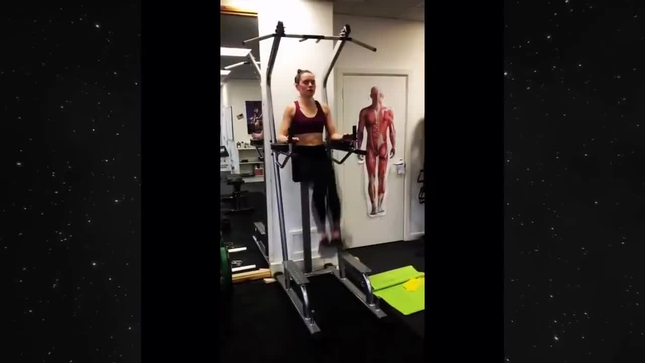 Ridley, daisy, daisyridley, fitness, rey, weights, workout, Daisy Ridley's workout/fitness videos GIFs
