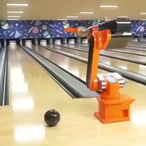 Watch and share A Bowling Robot. GIFs by saleh on Gfycat
