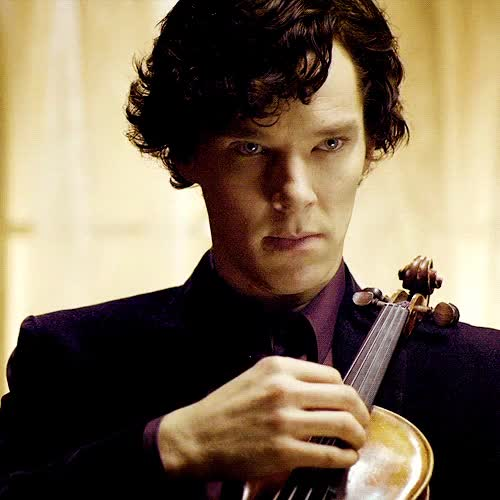 Watch and share Sherlock Plucks Violin GIFs on Gfycat