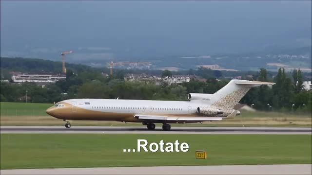 Watch and share [FullHD] Rotate Too Soon!!! SW Business Boeing 727-200(A) Landing, Taxi & Takeoff At Geneva/GVA/LSGG GIFs by deltakilo008 on Gfycat