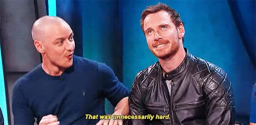 Watch and share Michael Fassbender GIFs and James Mcavoy GIFs on Gfycat