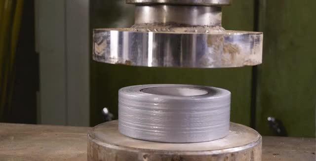 Watch and share Hydraulic Press VS Tape (reddit) GIFs on Gfycat