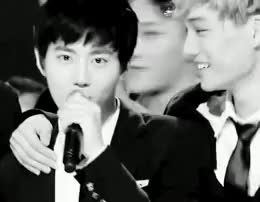 Watch and share Umma And Baby GIFs and Joonmyun GIFs on Gfycat