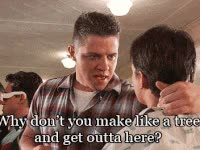 Watch and share Biff, Bttf, Why Dont You Make Like A Tree And Get Outta Here GIFs on Gfycat