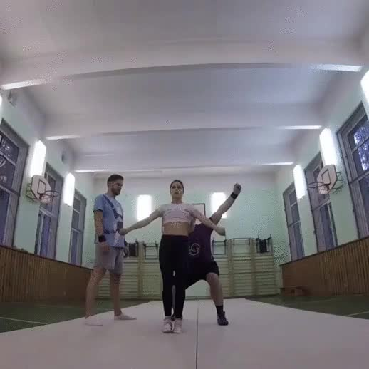 Watch and share Incredible Combination Of Strength And Balance GIFs by tothetenthpower on Gfycat