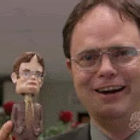 Watch Dwight Schrute bobblhead GIF on Gfycat. Discover more rainn wilson GIFs on Gfycat