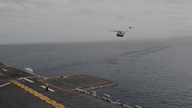 Watch Wasp-class Amphibious Assault Ship - Flight Deck Operations (USS Boxer) GIF by @sammy on Gfycat. Discover more militarygfys GIFs on Gfycat