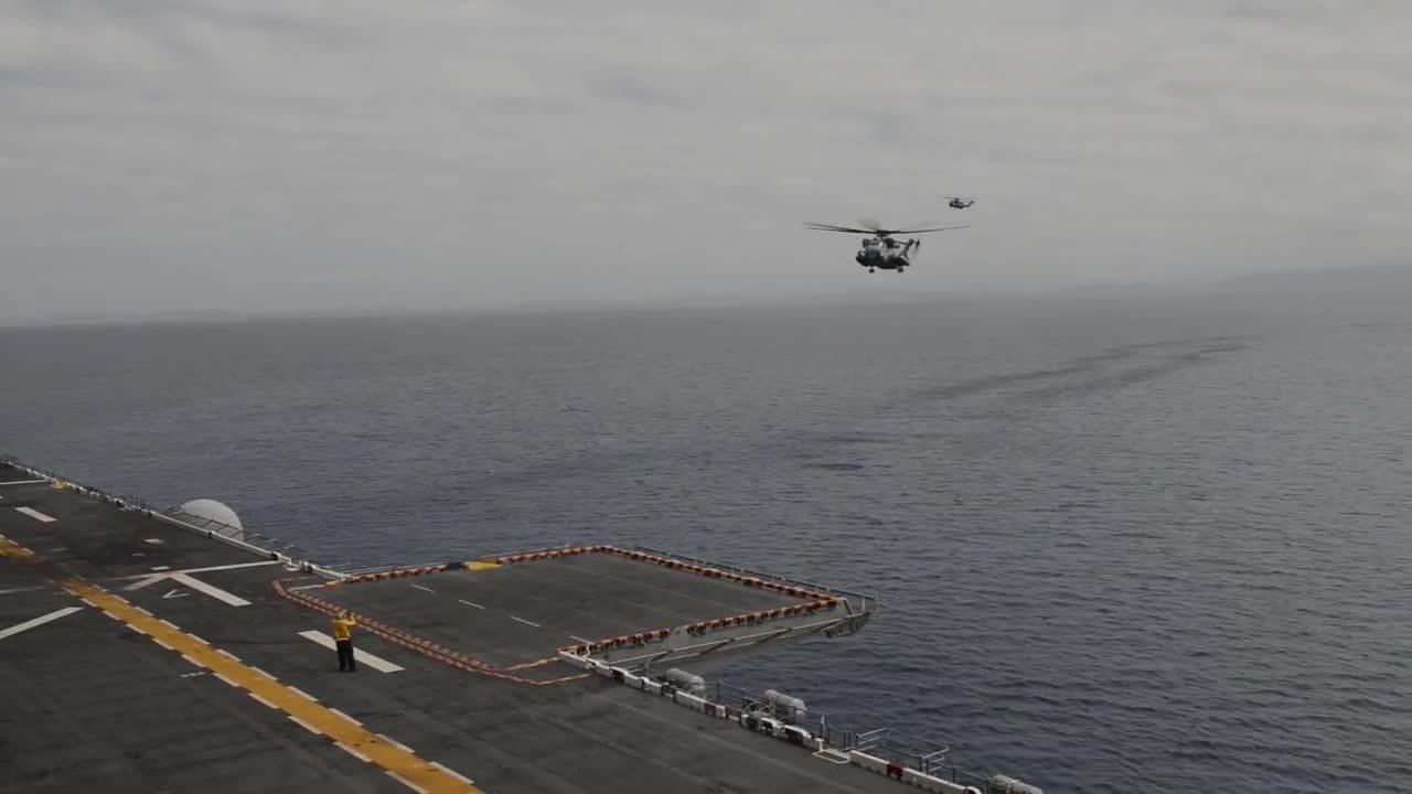 militarygfys, Wasp-class Amphibious Assault Ship - Flight Deck Operations (USS Boxer) GIFs