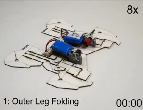 Watch and share Self-Assembling Origami Robot GIFs on Gfycat
