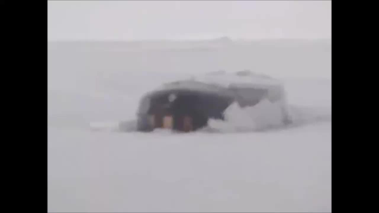 WarshipGfys, warshipgfys, USS Alexandria breaking through the ice on Prudhoe Bay, Alaska. (reddit) GIFs