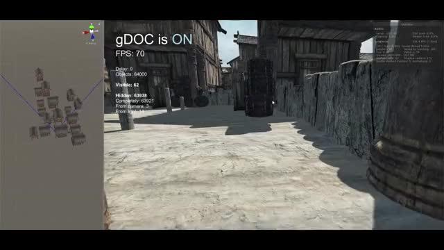 Unity dynamic GPU occlusion culling GIF by (@drcrack