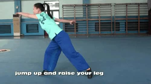 Watch and share Martial Arts: WUSHU TUTORIAL: Butterfly Kick By Jade Xu.(video) GIFs on Gfycat