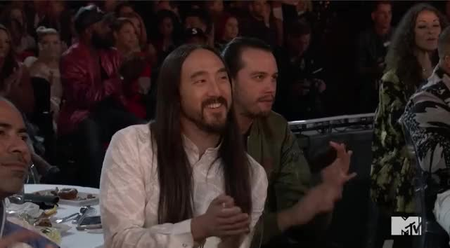 Watch this mtv awards 2017 GIF by GIF Reactions (@visualecho) on Gfycat. Discover more Celebrity, MTV Awards, MTVAwards, MTVAwards2017, cheer, clap, steve aoki GIFs on Gfycat