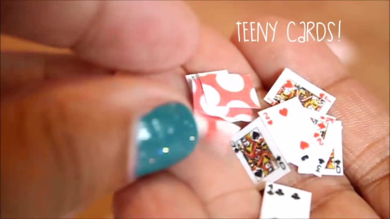 craft, cute, mini toy, DIY miniature playing cards GIFs
