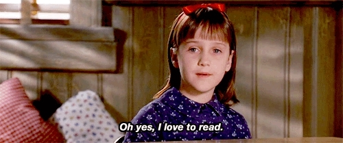 Animated Matilda yes love to read GIFs
