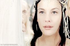 Liv Tyler, aragorn, aragorngif, arwen, arwengif, lord of the rings, lotredit, lotrgif, mygif, return of the king, a pale moon rises GIFs