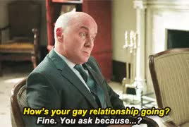 """Watch Alpha House - 2x01 - """"If you even mention my sexual orientat GIF on Gfycat. Discover more I giffed this pretty much for her face third right, alpha house, alpha house 2x01, brooke bloom, femslash related stuff, good stuff, in this series, julie carrell, julie white and of course I can't forget yara, louis laffer, matt malloy, not just julie and kat's but wanda sykes's character and cynthia nixon's character, there are a lot of excellent faces GIFs on Gfycat"""