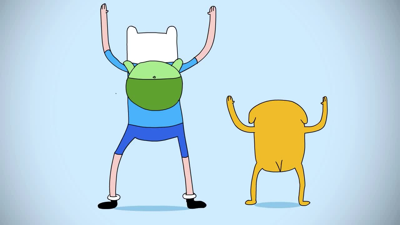 GIF Brewery, dance, dancing, finn, funny, jake, jump on it, Finn and Jake - Jump on it GIFs
