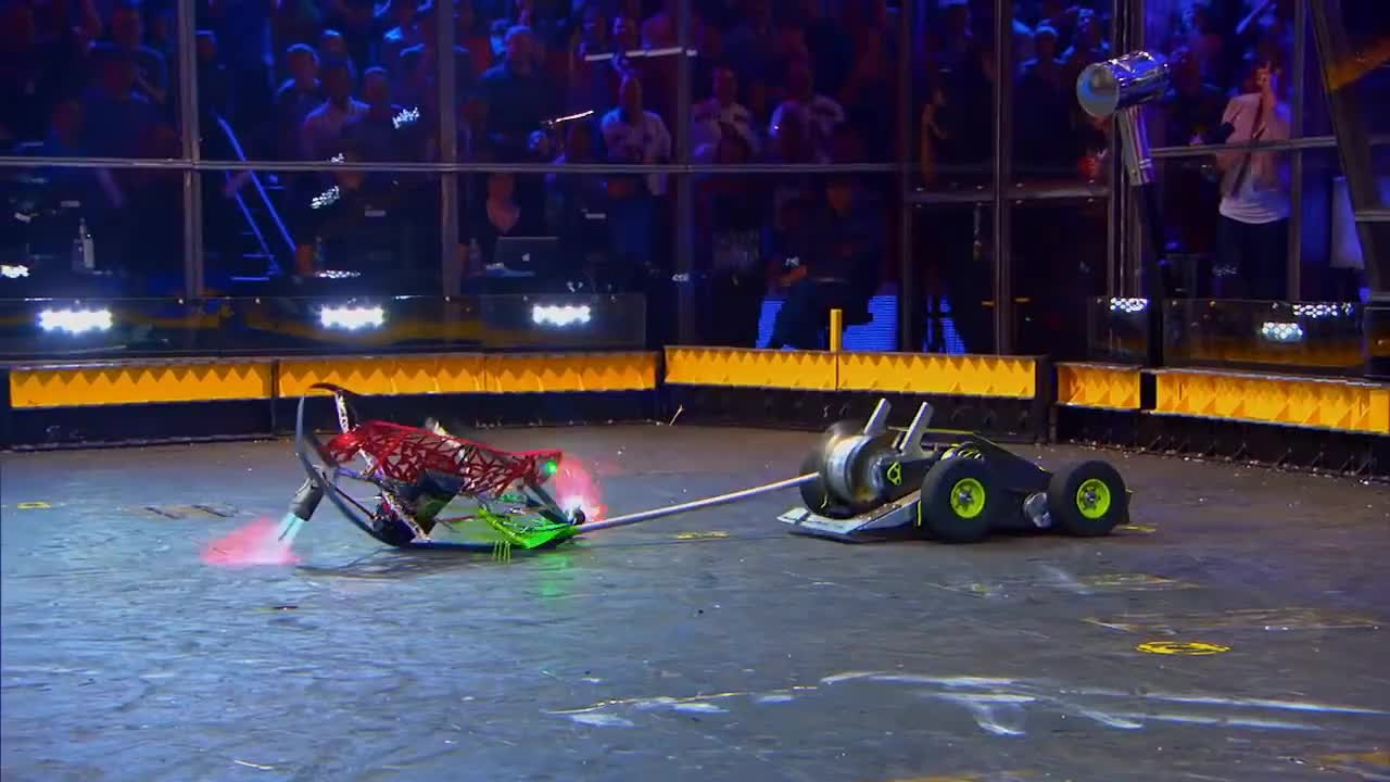 abc, battlebots, television, trailer, tv, Hypershock vs. Warrior Clan - BattleBots GIFs