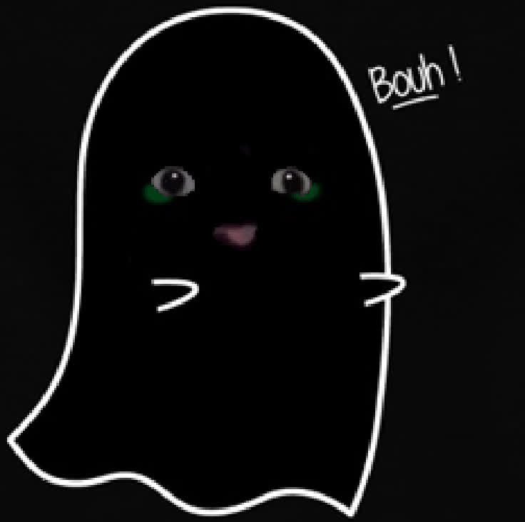 boo, cat, ghost, gato ghost bouh GIFs