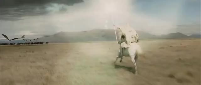 Watch and share LOTR: The Return Of The King - Gandalf The White & Nazguls GIFs on Gfycat