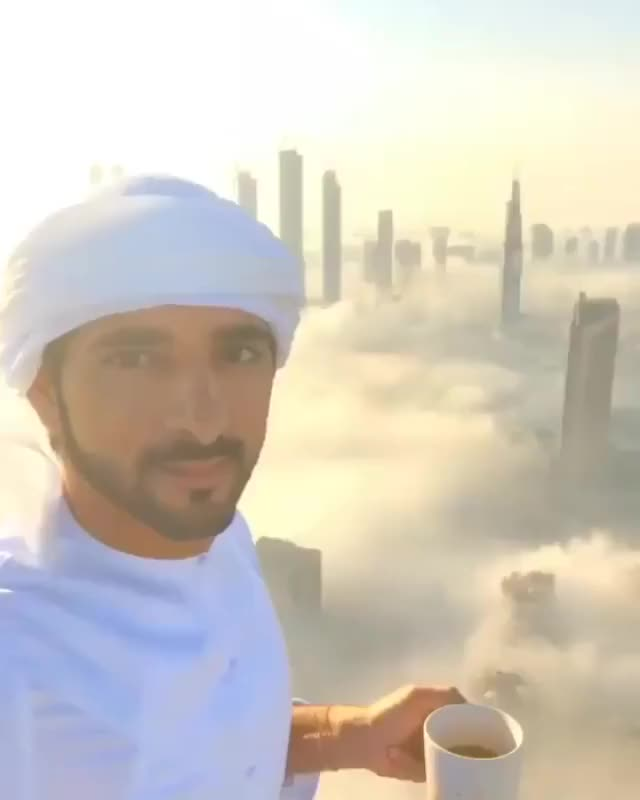 Watch and share Dubai Under A Sea Of Clouds GIFs by Nick on Gfycat