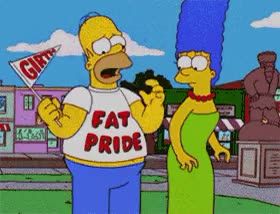 Watch and share Homer Simpson Fat Pride By Pervertix GIFs on Gfycat