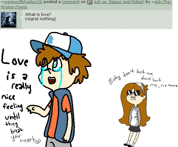 Watch and share Ask Dipper And Mabel: What Is Love? By Ask-The-MysteryTwins GIFs on Gfycat