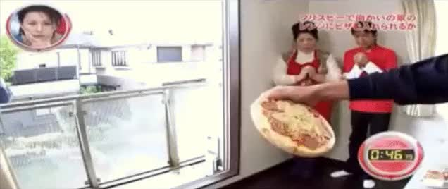 Watch and share Throwing A Pizza Into An Oven From Across The Street (xpost - /r/japanesegameshows) (reddit) GIFs by leftabitcharlie on Gfycat