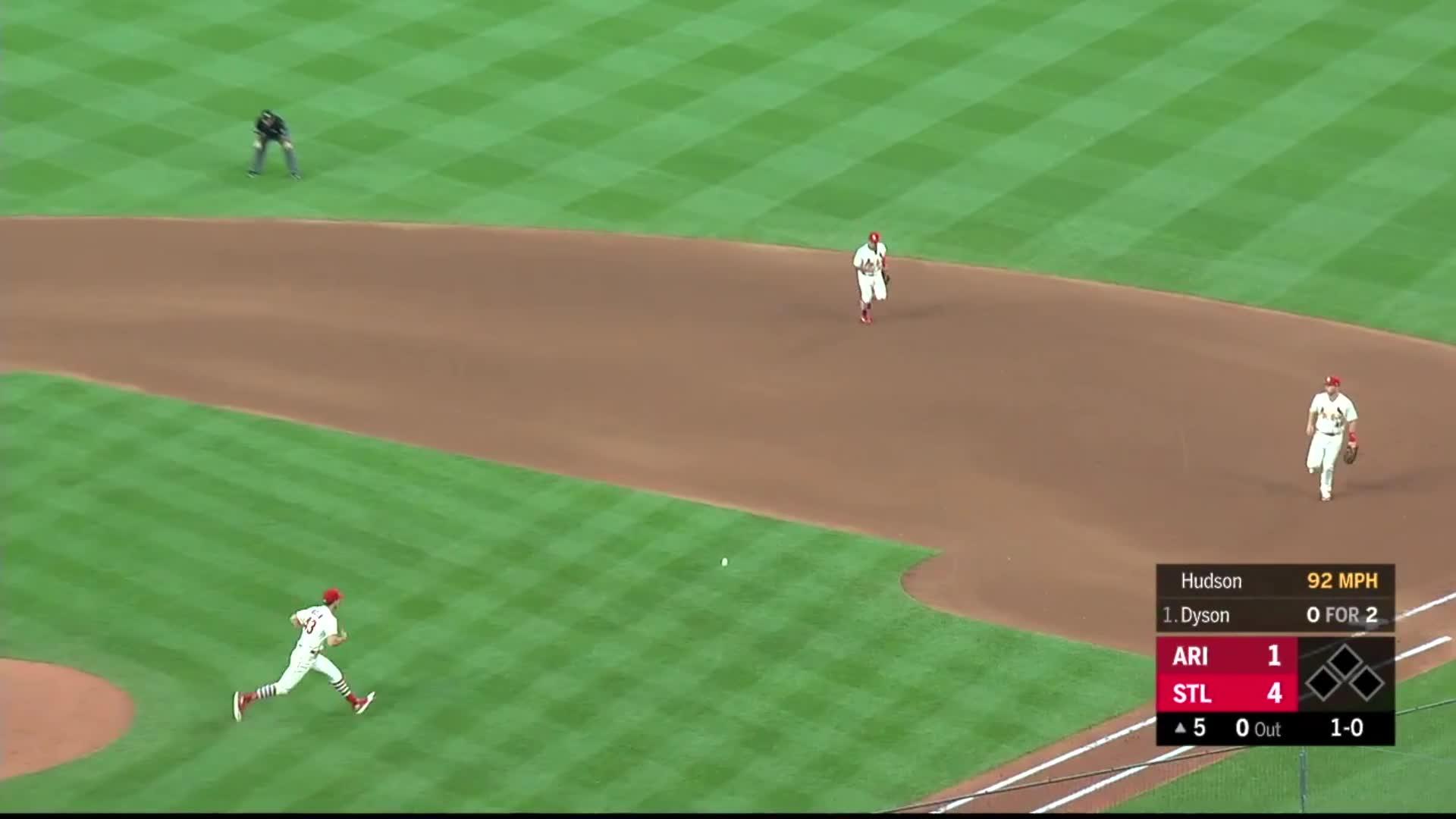 arizona diamondbacks, baseball, cardinals, st. louis, Kolten Wong flips ball to Goldy, Paul kicks it. GIFs