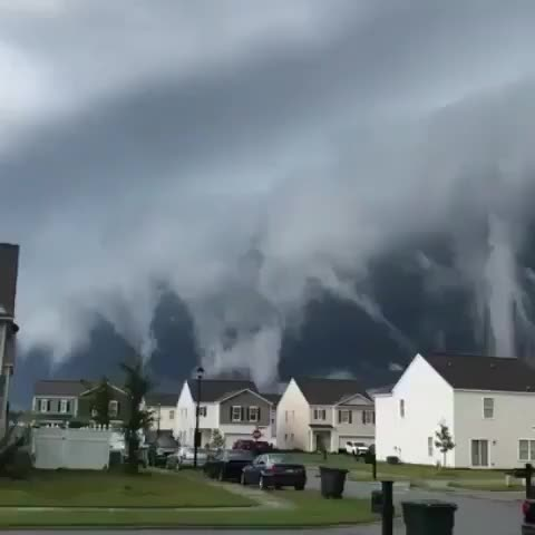 Watch and share Clouds Look Like A Tsunami GIFs by linkux18 on Gfycat