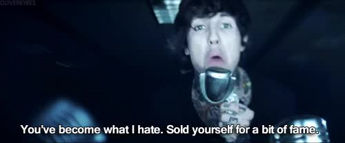 Watch and share Oliver Sykes GIFs on Gfycat