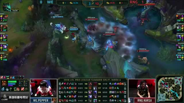 RNG vs WE Series Highlights LPL Summer 2018 W6D4 Royal Never Give Up vs Team WE by Onivia
