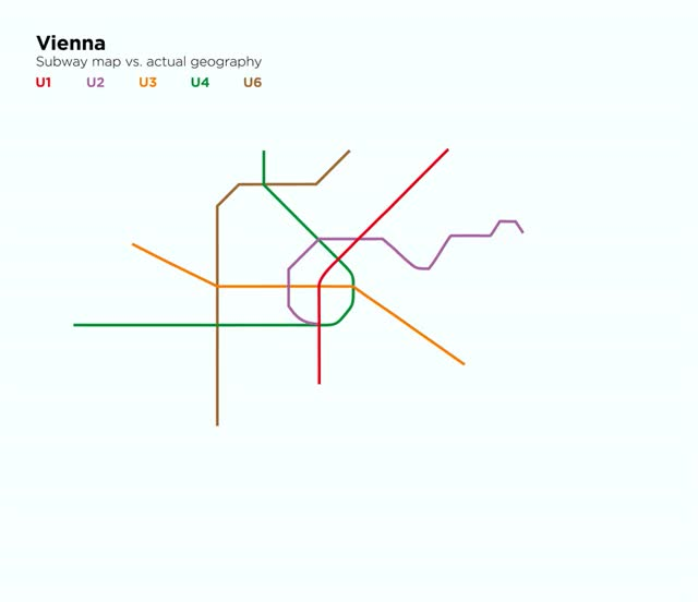 Nyc Subway Map Vs Actual.Mesmerizing Gifs Comparing Major Cities Subway Maps With Their