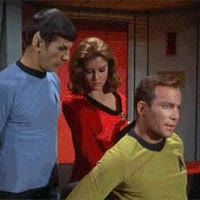 Watch and share William Shatner GIFs and Leonard Nimoy GIFs on Gfycat