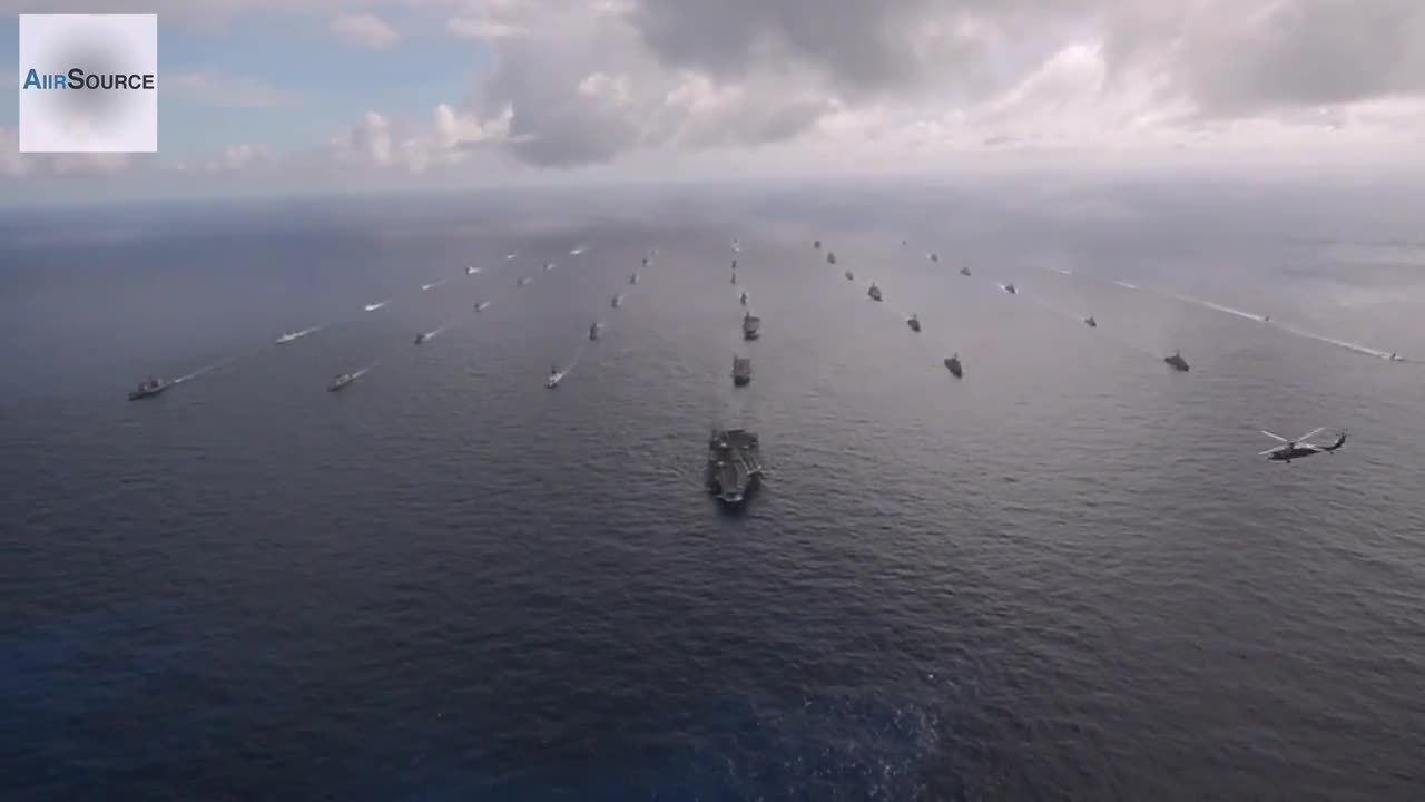 militarygfys, RIMPAC 2014 - 42 ships and submarines in formation GIFs