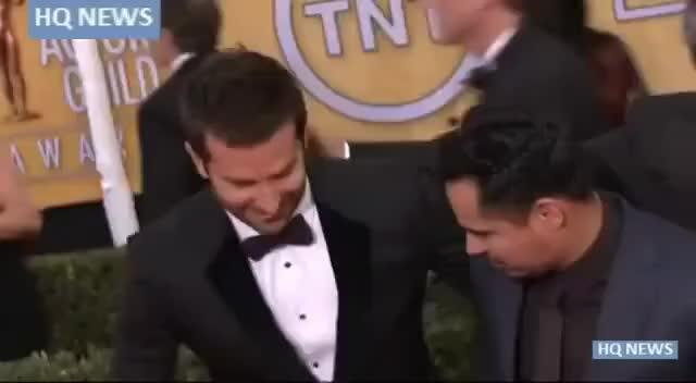Watch and share Bradley Cooper Got Crotch Hugged By Vitalii Sediuk At SAG Awards GIFs on Gfycat