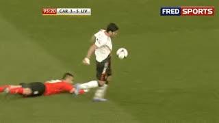 Watch and share Cardiff 3-6 Liverpool - Luis Suarez, Com Toda A Classe, Faz Mais Um Golo... GIFs on Gfycat