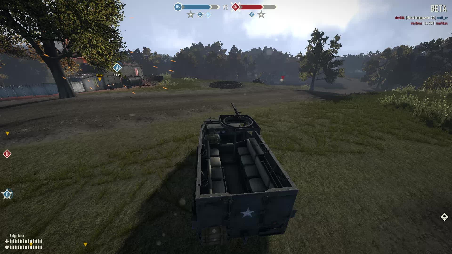 heroesandgenerals, APC versus very light tank GIFs
