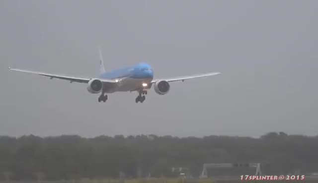 Watch Extreme 777 Landing GIF on Gfycat. Discover more related GIFs on Gfycat