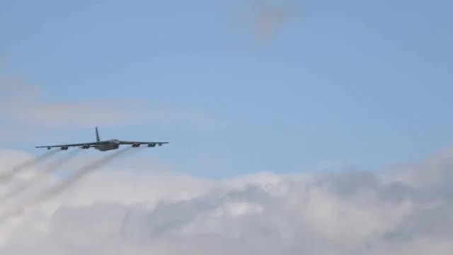 Watch and share Amazing Sound - Boeing B-52H Stratofortress - RAF Cosford Airshow 2017 GIFs on Gfycat