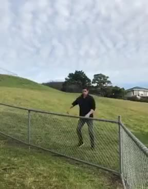 Watch How to get over a fence with style GIF on Gfycat. Discover more 2h2b, Ninja, Tasmania, Viral, dancing, epic, fence, freerunning, jemba, jiemba, ladbible, movement, parkour, talent, tricking GIFs on Gfycat