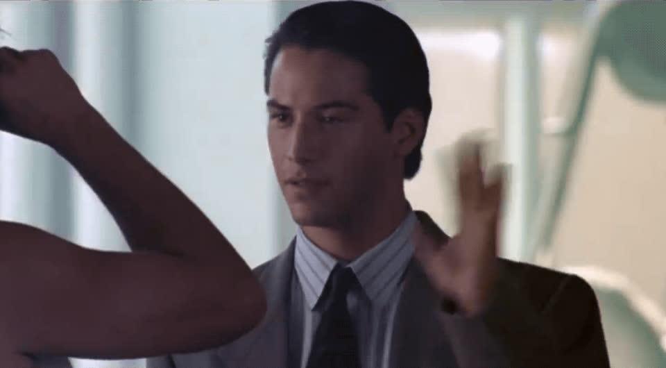 hi, johnny utah, keanu reeves, point break, wave, Keanu Reeves Wave GIFs