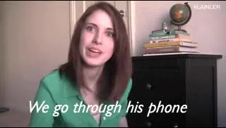 Watch and share Overly Attached Girlfriend GIFs on Gfycat