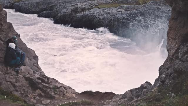 Watch and share Lovers At Godafoss GIFs on Gfycat